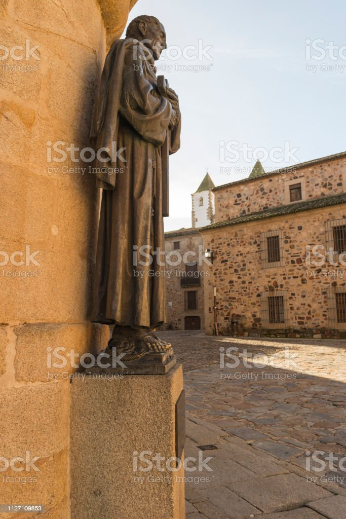 Medieval city of Caceres stock photo