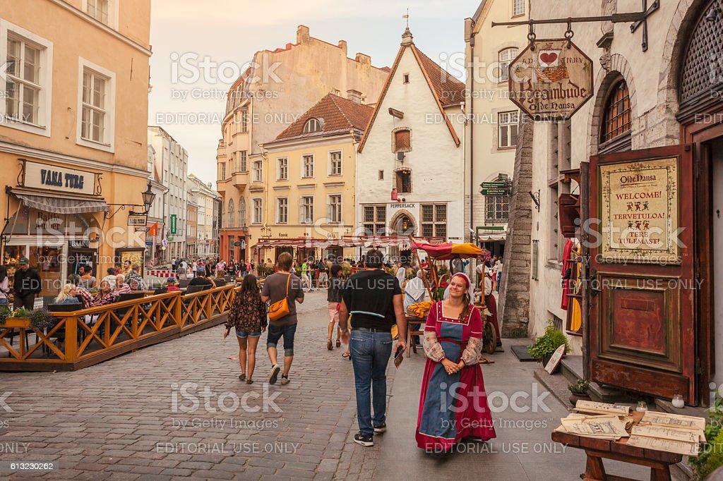 Medieval city of Tallinn stock photo
