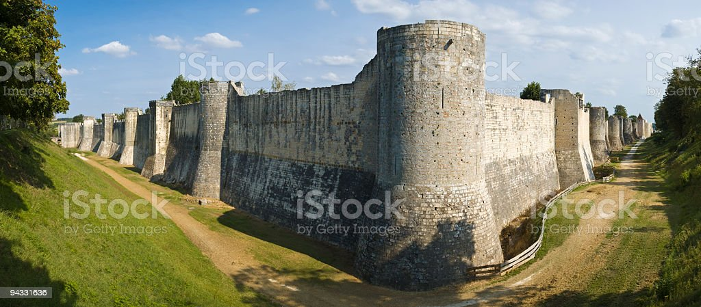 Medieval city walls royalty-free stock photo