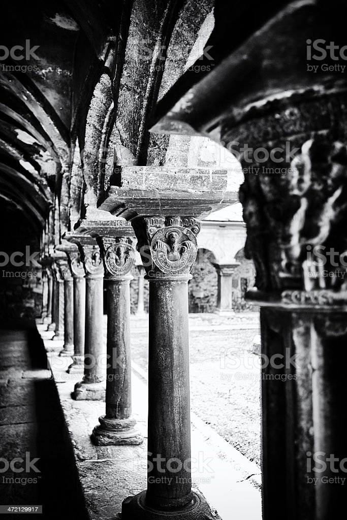 Medieval Cloister royalty-free stock photo