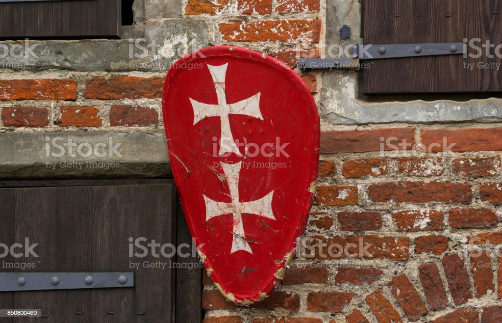 Medieval coat of arms stock photo