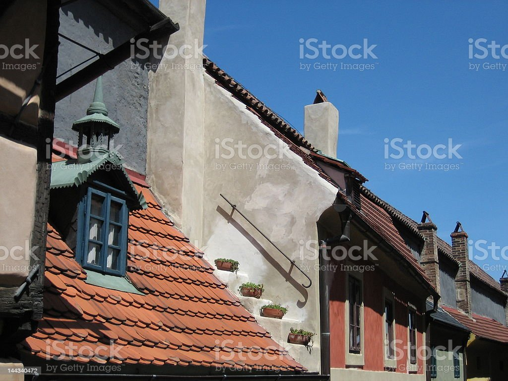 Medieval cottage royalty-free stock photo