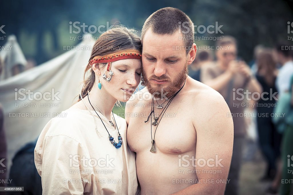 Medieval couple royalty-free stock photo
