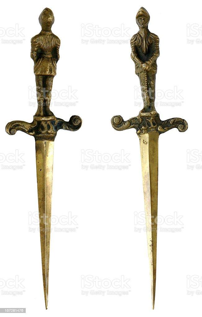 Dagas medievales - foto de stock