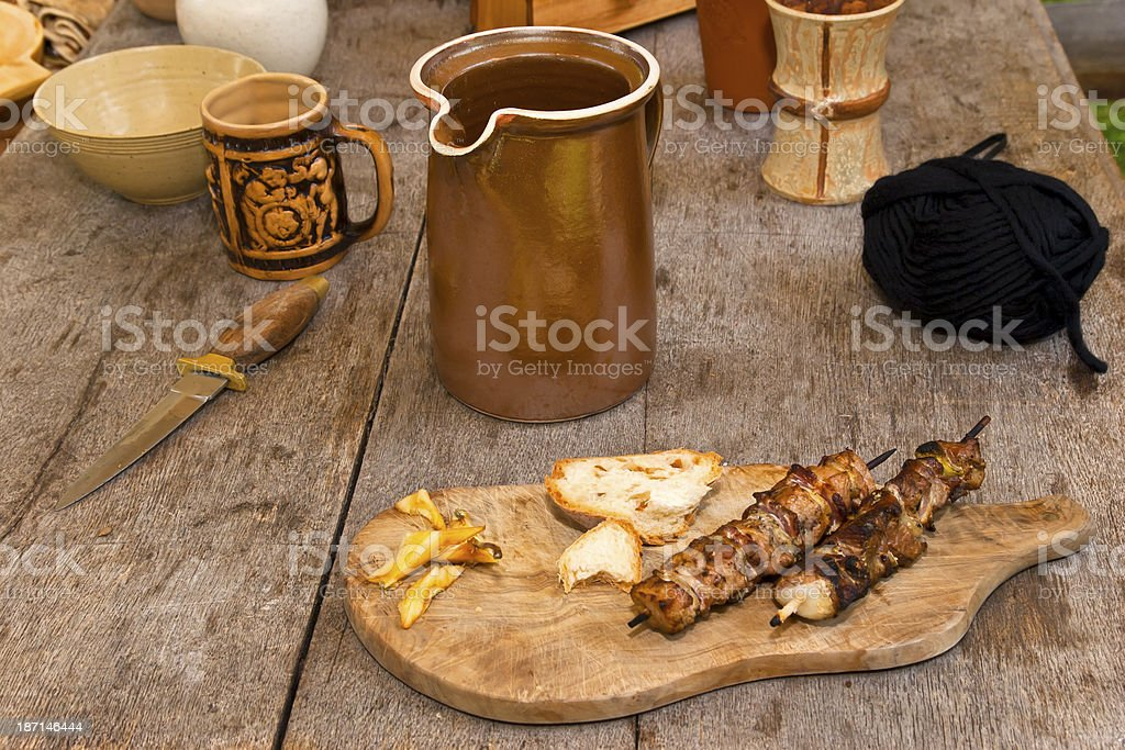 Medieval Dinner royalty-free stock photo