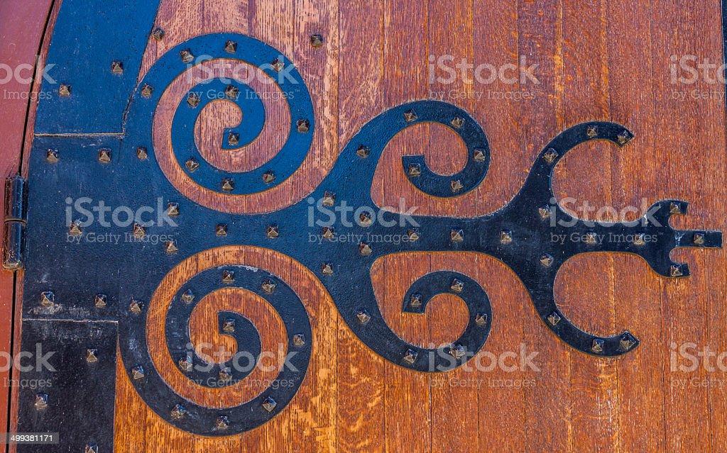 Medieval Door Hinge royalty-free stock photo