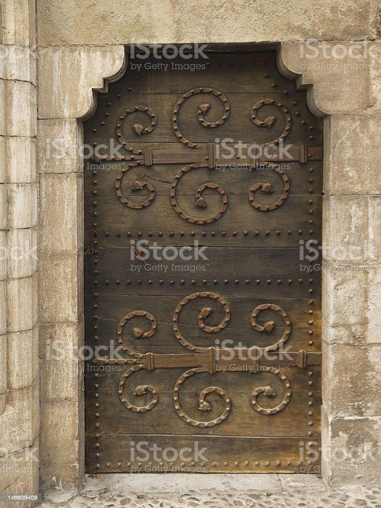 Medieval door royalty-free stock photo