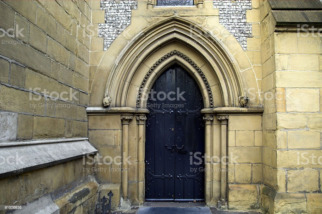Medieval Doorway Southwark Cathedral stock photo