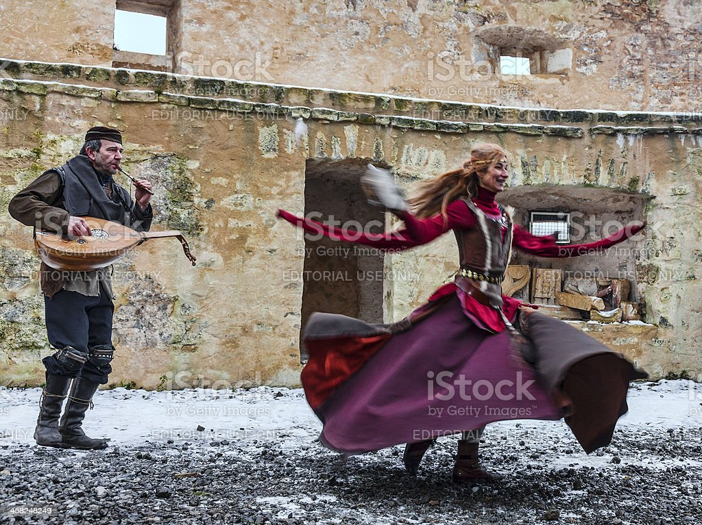Medieval Entertainer stock photo