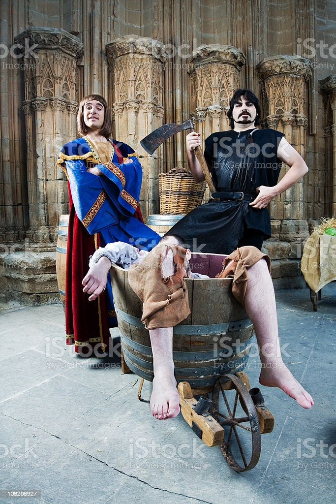 Medieval Era Characters in Castle royalty-free stock photo