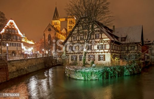 istock Medieval Esslingen by Night 179763003