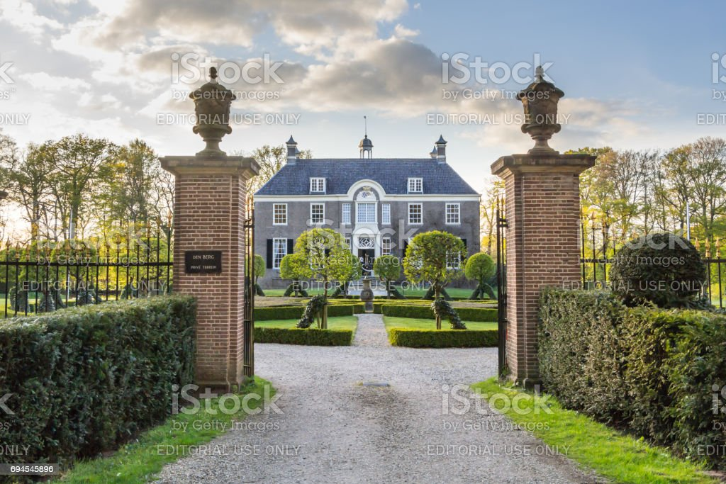 Medieval estate house Den Berg in Dalfsen MIllingen stock photo