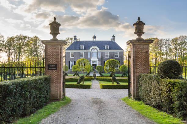 Medieval estate house Den Berg in Dalfsen MIllingen stock photo