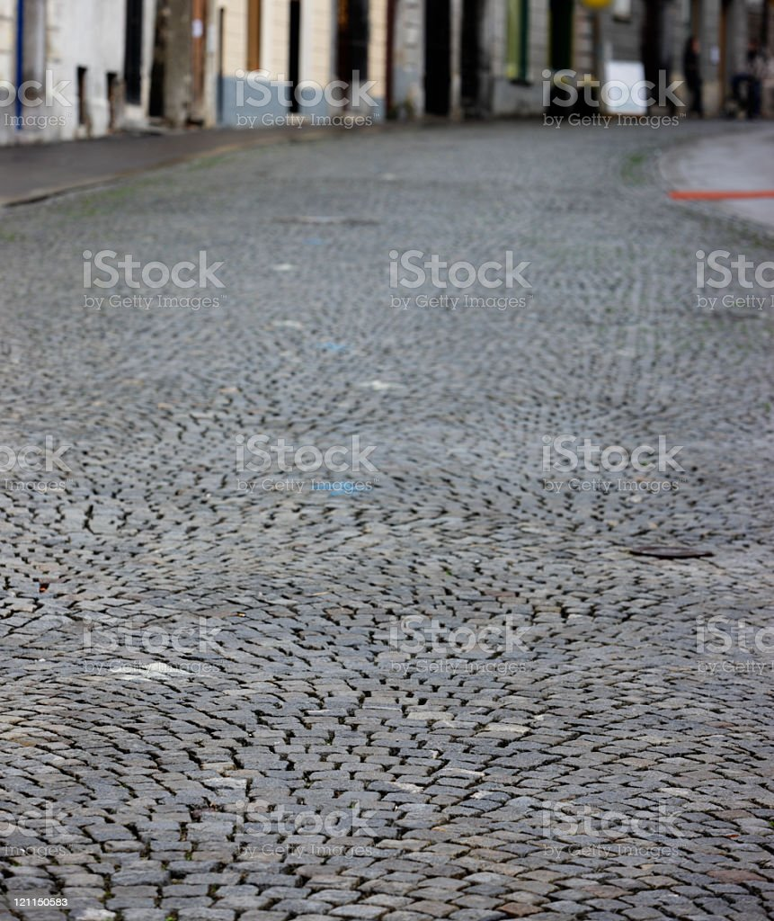 Medieval European road royalty-free stock photo