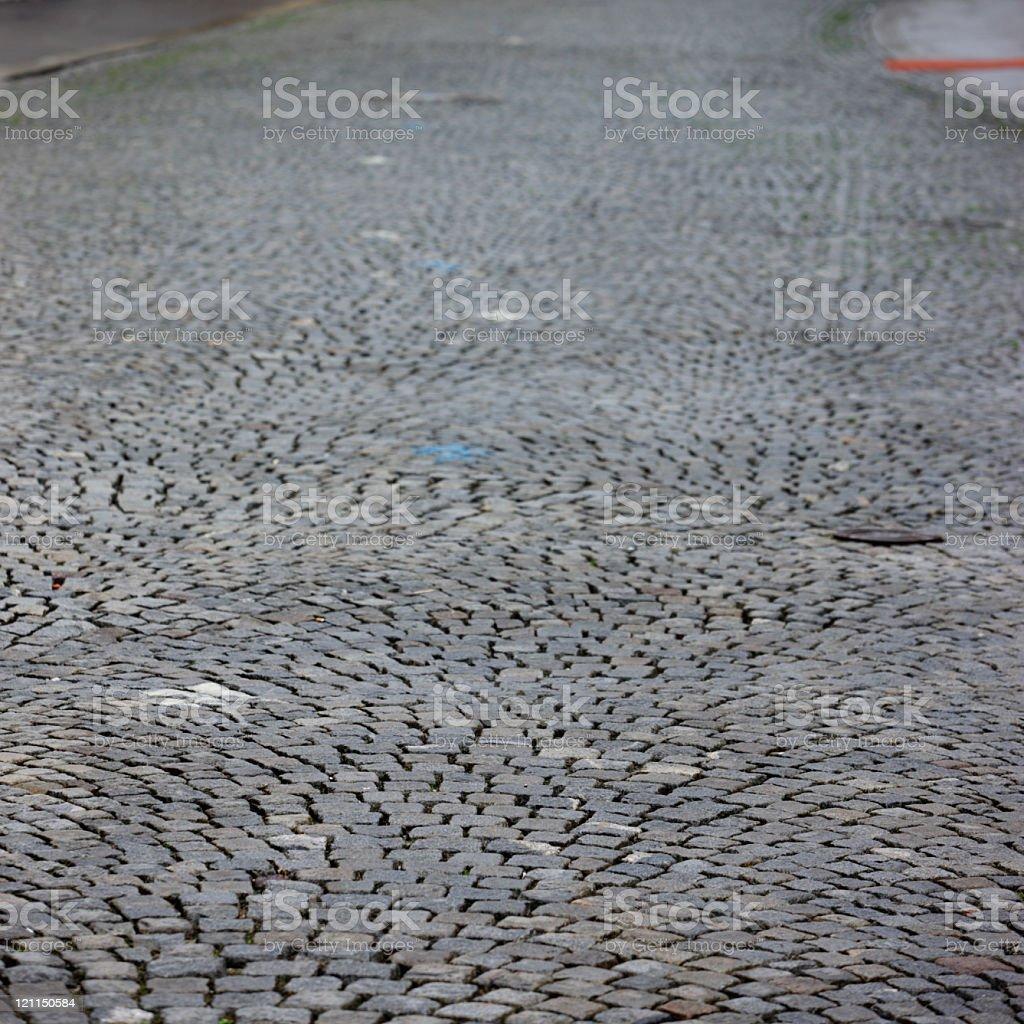 Medieval European road stock photo