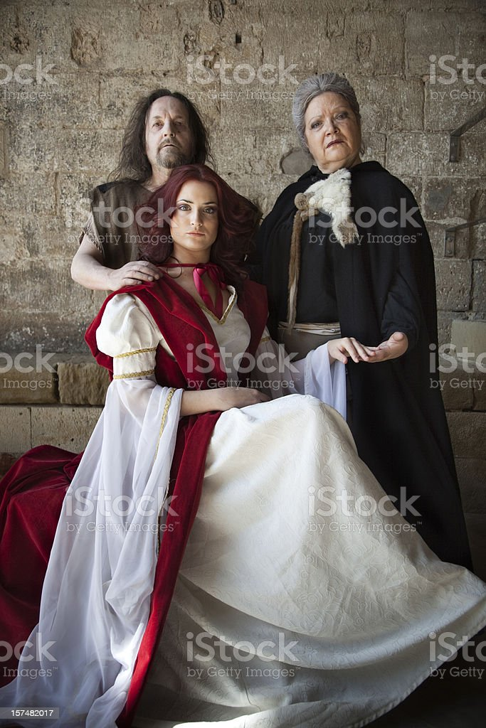 Medieval family portrait royalty-free stock photo