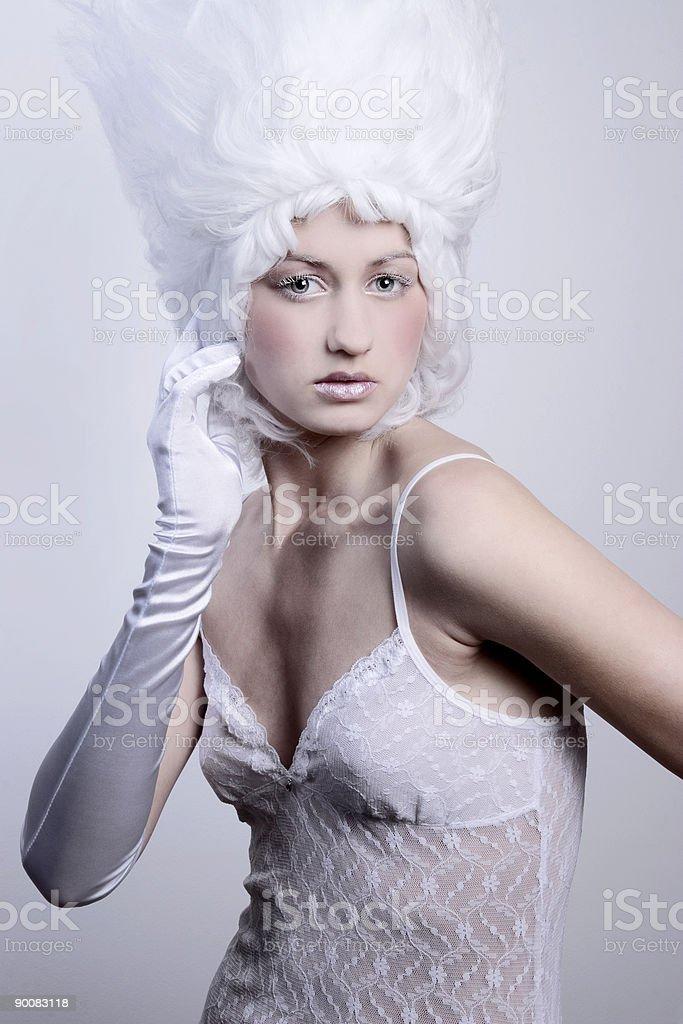 Medieval fashion portrait royalty-free stock photo