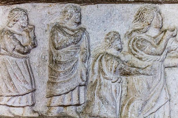 Medieval figures stock photo