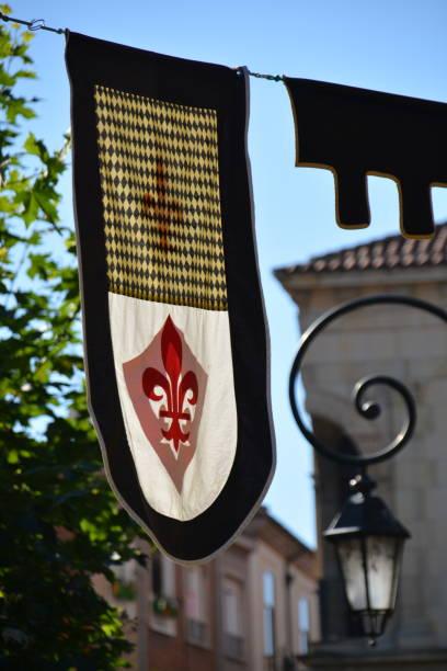 Bandera medieval - foto de stock