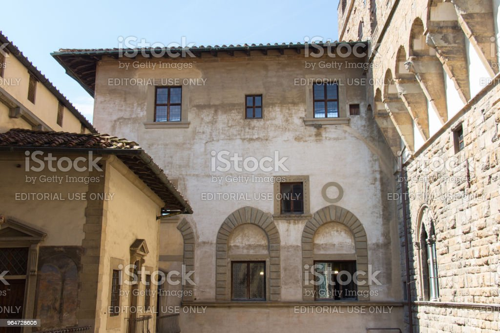 Medieval Florentine building. View from the top of Palazzo Vecchio, Florence, Tuscany, Italy. royalty-free stock photo