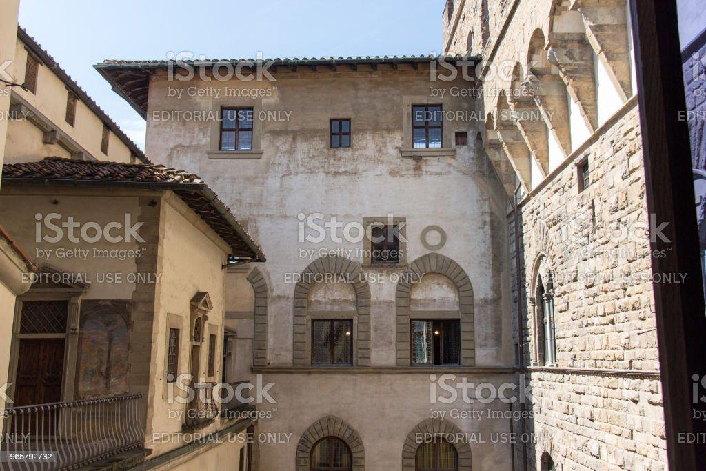 Middeleeuwse Florentijnse gebouw. Uitzicht vanaf de top van Palazzo Vecchio, Florence, Toscane, Italië. - Royalty-free Archiefbeelden Stockfoto