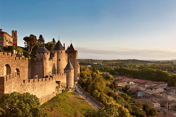 Mittelalterliche Festungsstadt Carcassonne, Frankreich – Foto