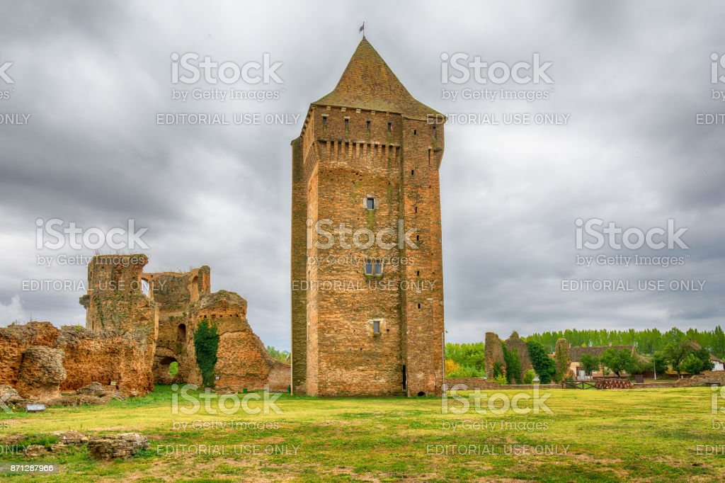 Medieval fortress Bac in Serbia stock photo