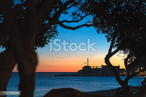 istock Medieval fortress in Petrovac at dusk 1127250201