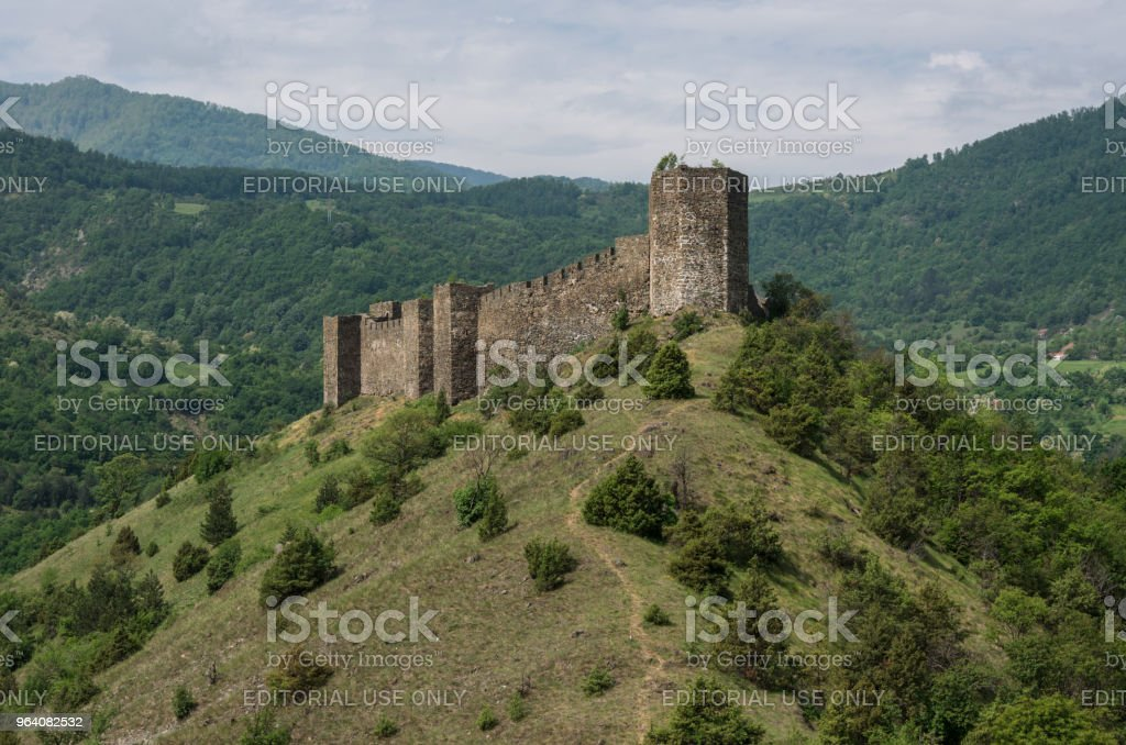 Medieval fortress Maglic on mountain cliff, Serbia - Royalty-free Ancient Stock Photo