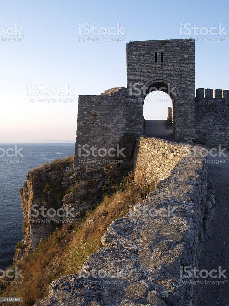 Forteresse médiévale sur Cape Kaliakra, mer Noire, Bulgarie photo libre de droits