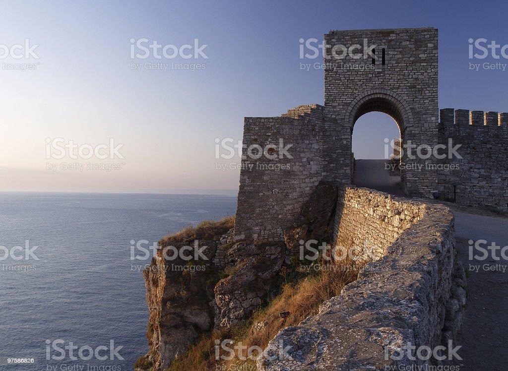 Forteresse médiévale sur Cape Kaliakra, Bulgarie photo libre de droits