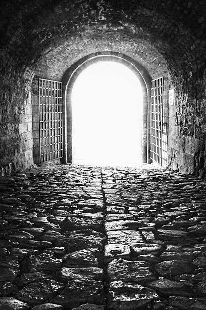 Medieval gate stock photo