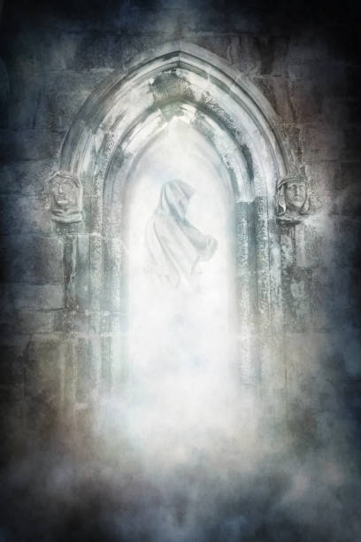 Medieval Ghost stock photo