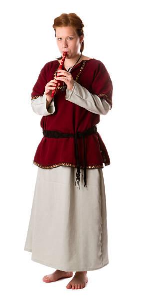 Medieval girl stock photo