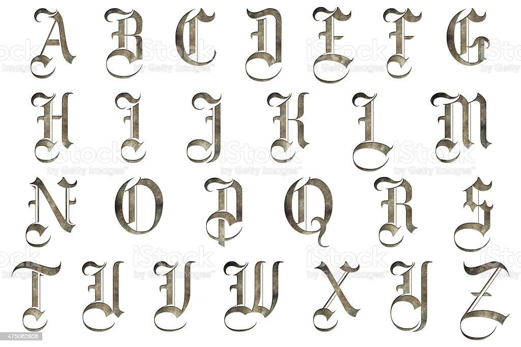 Gothique Lettre de l'Alphabet médiéval Collection - Photo