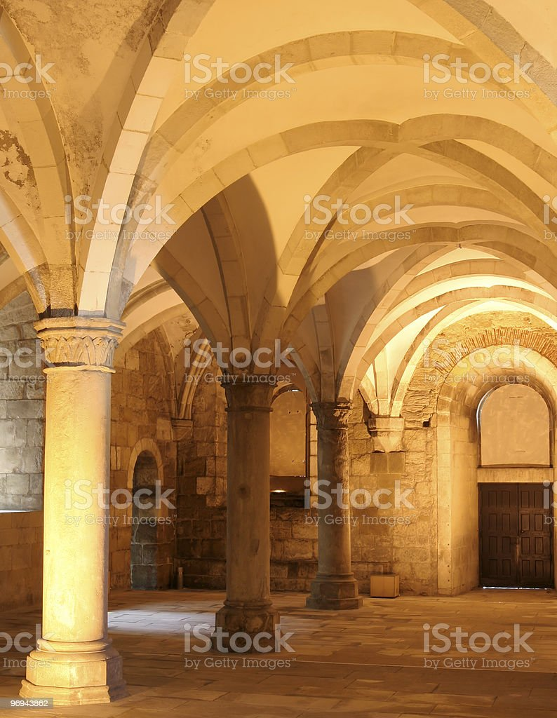 medieval gothic crypt royalty-free stock photo