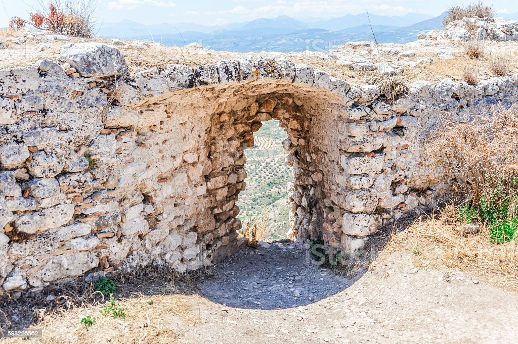 Medieval Greek fortress of Acrocorinth foto royalty-free