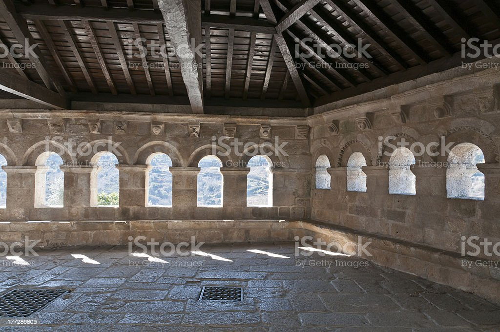 Medieval Hall en Portugal - foto de stock
