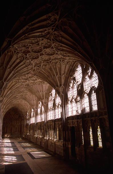 Medieval Hallway stock photo