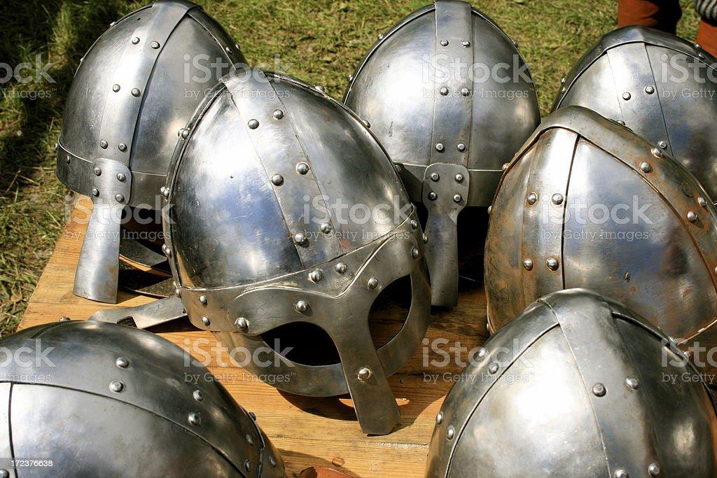 medieval helmets royalty-free stock photo