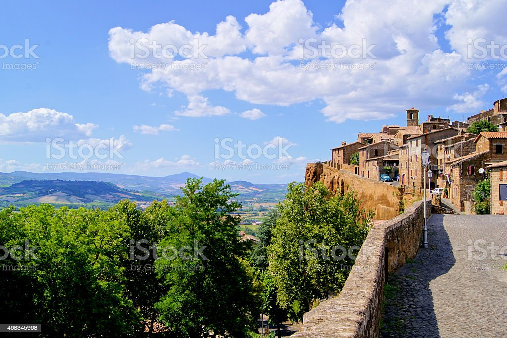 Medieval hill town of Orvieto, Italy royalty-free stock photo