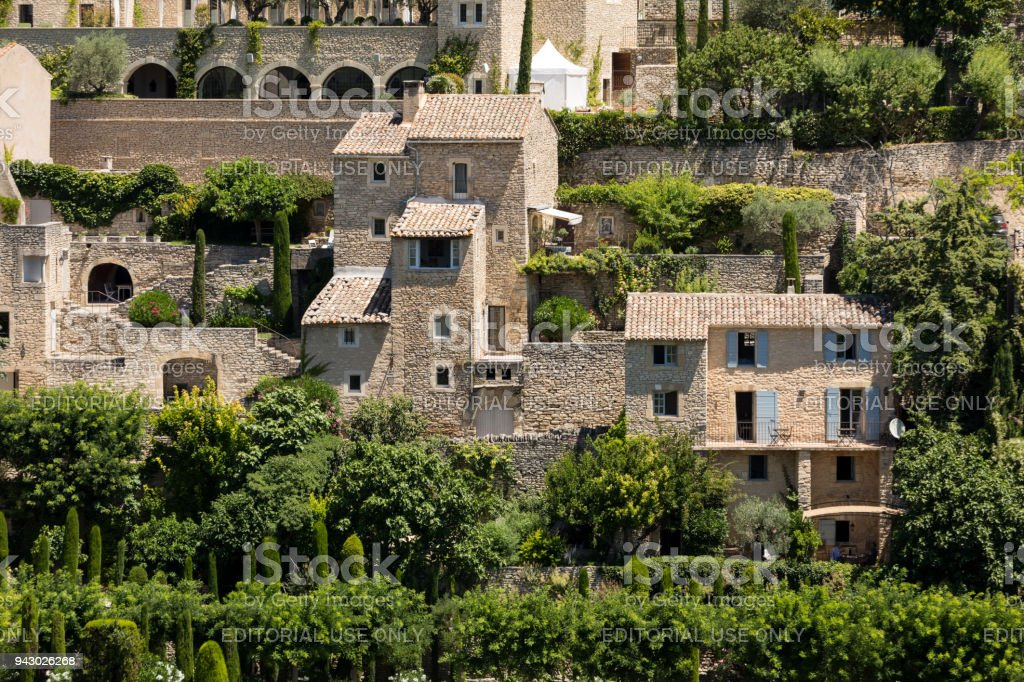 Medieval hilltop town of Gordes. Provence. France. stock photo