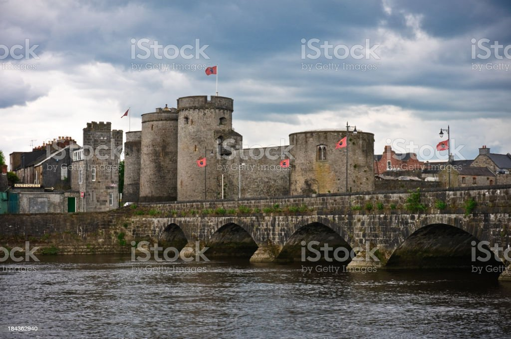 Medieval Ireland. King John Castle. Limerick royalty-free stock photo