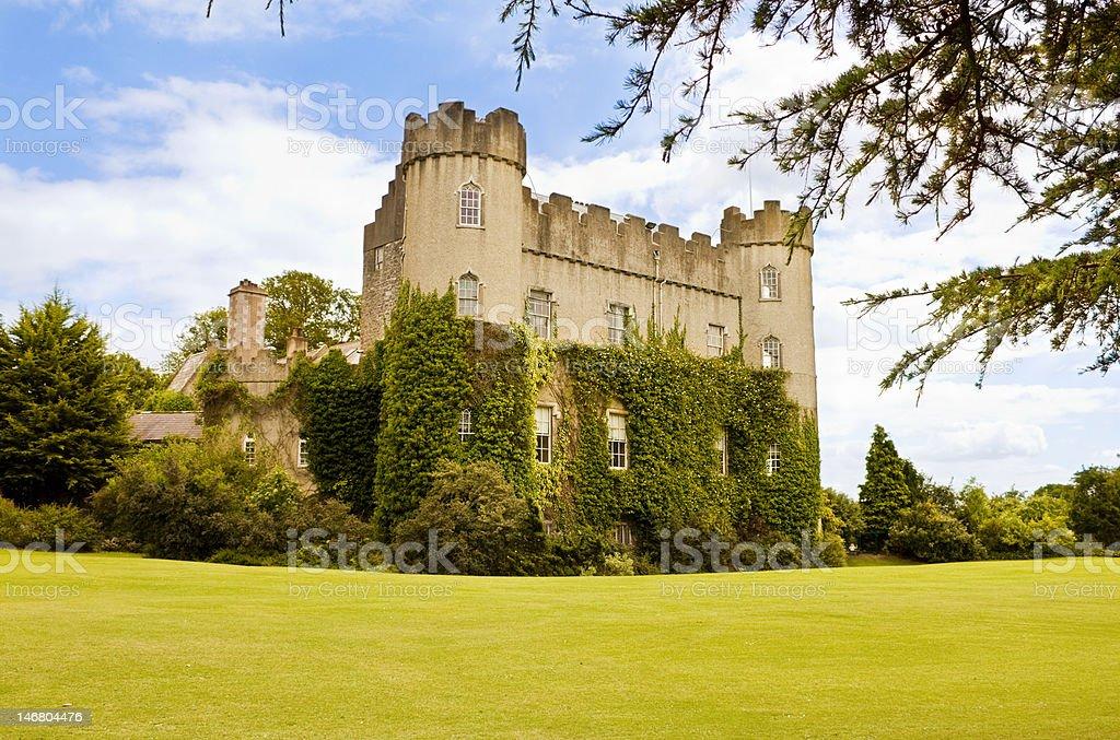 Medieval Irish castle at  Malahide, in Dublin stock photo