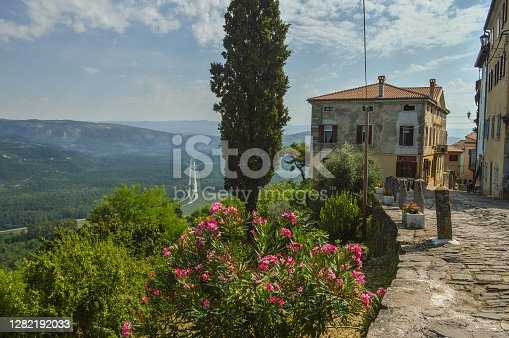 istock Medieval Istrian town Motovun built on top of the hill 1282192033