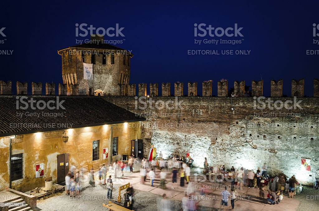 medieval italian festival in the castle of Soncino, Italy royalty-free stock photo