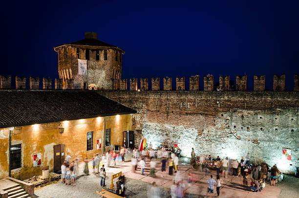 medieval italian festival in the castle of Soncino, Italy foto