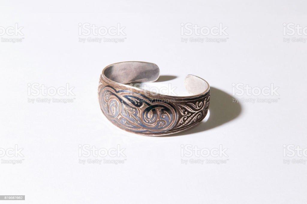 Medieval Kazakhstani bracelet stock photo