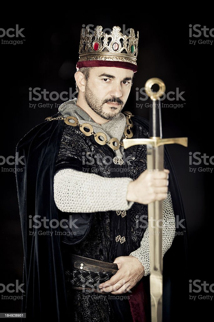 medieval king royalty-free stock photo