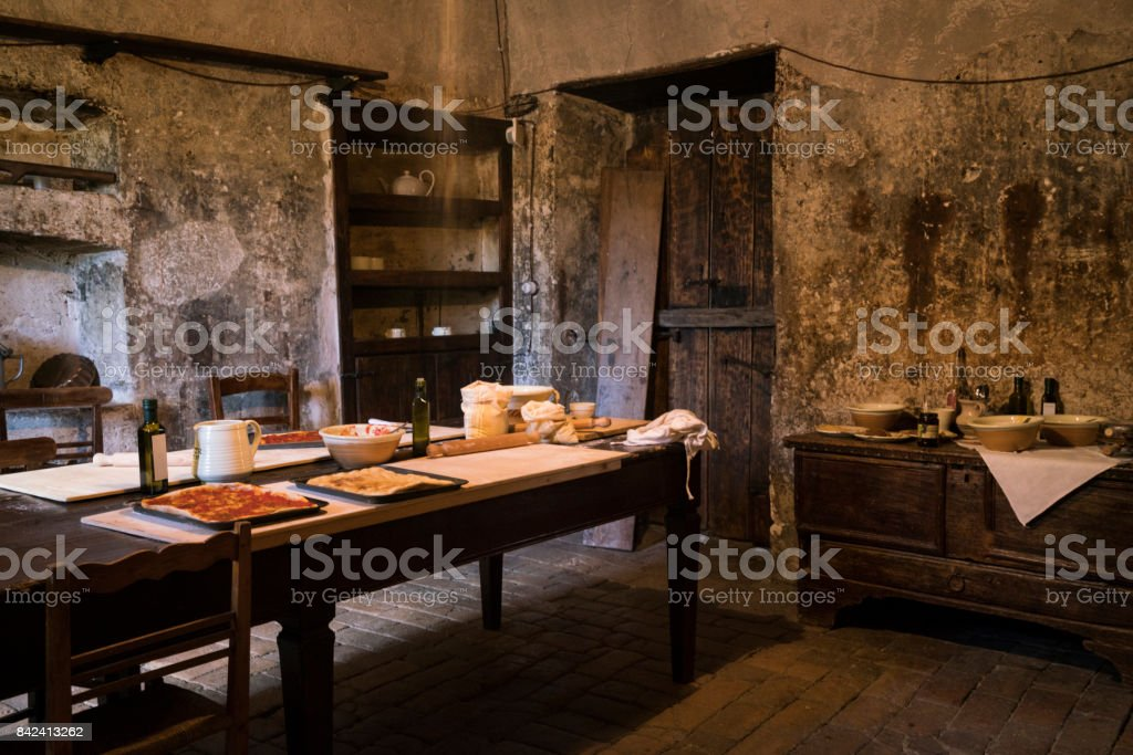 Medieval Kitchen In Abruzzo Royalty Free Stock Photo